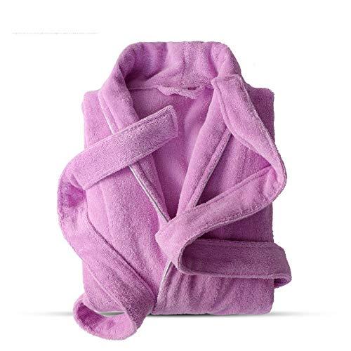 SMEJS 100% algodón de Rizo for Toallas Robe Amantes Suave Albornoz Hombres y de Mujeres Ropa de Dormir camisón Casual Male Inicio Albornoz Hotel Robe (Color : C, Size : Large)