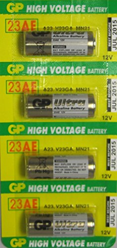 4 GP 23AE 12V Alkaline Batteries
