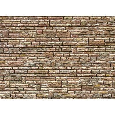 """FALLER 170604 - Mauerplatte """"Sandstein"""", grün-gelb-braun"""