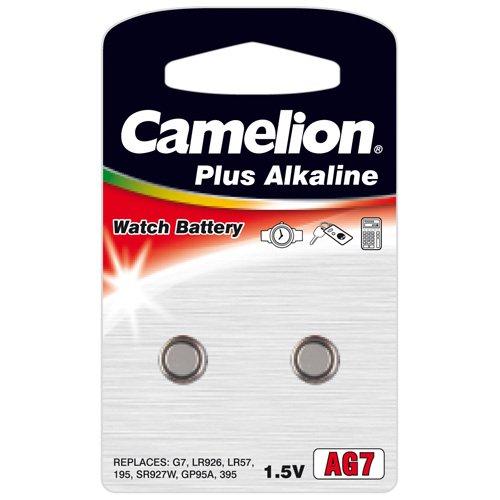 2 Stück Camelion AG7 LR57 LR926 Knopfzelle 1,5V Batterie