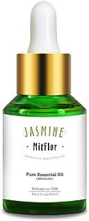 Jasmine Essential Oil, Mitflor Pure Organic Aromatherapy Therapeutic Grade Jasmine Oil Gift for Diffuser Humidifier Massag...
