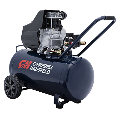 Campbell Hausfeld Air Compressor, 13-Gallon Horizontal Oil-Lubricated 3.8 CFM 1.3HP 120V 10A (DC130000)