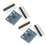 KKHMF 2個 MPU-6050 6DOF GY-521 MPU6050 3軸ジャイロスコープ + 加速度センサーモジュール Arduino用