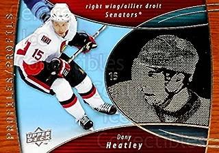 (CI) Dany Heatley Hockey Card 2008-09 McDonalds Upper Deck Profiles 4 Dany Heatley