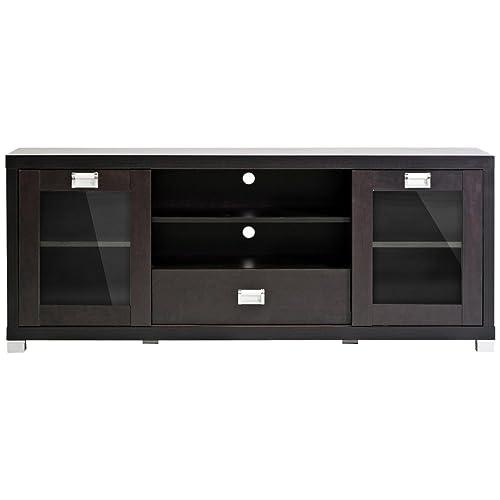 Tv Stand With Glass Door Amazon Com