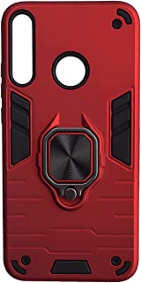 Iron Man Back Cover with Magnetic Ring Holder for Huawei Y7P 2020 - Red