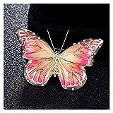 JSJJAQW Broche Butterfly BROCH Pins para LOS Regalos DE Papeles DE Mujeres Hijab Accesorio Hombre Vintage Broche Ramo (Metal Color : Pink)