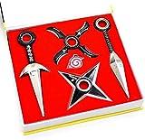Naruto Cosplay Accesorios Anime Kakashi Itachi Itachi Uchiha Sasuke Konoha Logo seguidores armas disfraz metal máscaras ninja Juegos espadas Juegos Giratorio -A