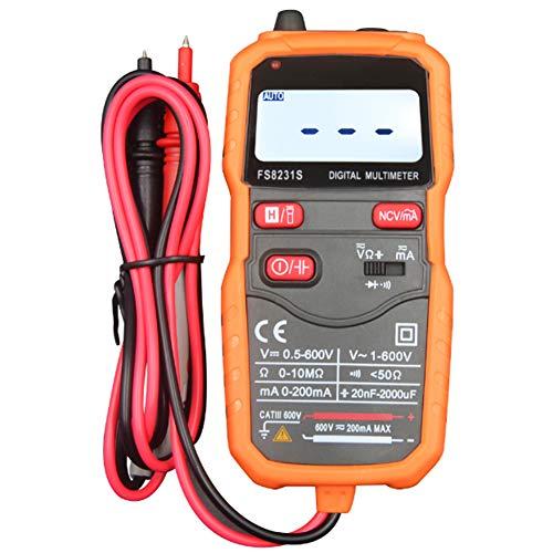 Digital-Multimeter, Batterietester Tragbare Und Multifunktionale Spannungsmesser DC Strom Widerstand Dioden Transistor Akustischer Durchgangsprüfer Mit Backlit LCD