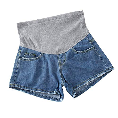 Lannister Fashion Casual Dame Mode Jeanshosen Umstandsshorts Kurze Umstandshose Mit Bekleidung Bauchband Slim Fit Casual Hot Pants (Color : Stil14, Size : S)