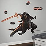 RoomMates Star Wars The Force Awakens Ep VII Kylo Ren Peel and Stick Giant Wall Decal with Glow In The Dark