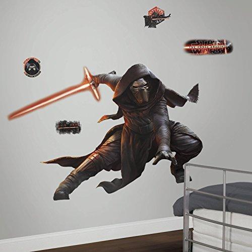 Décor Géant Repositionnable Adhésif Star Wars the Force Awakens Vii Kylo Ren Photoluminescent
