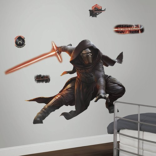 Décor Géant Repositionnable Adhésif Star Wars the Force Awakens Vii Kylo Ren Photoluminescent
