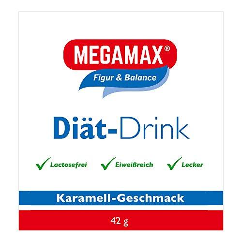 MEGAMAX Diät Drink Karamell Laktosefrei   aspartamfrei   Glucomannan   eiweißreich   3K Eiweiß   Ideal als Mahlzeitenersatz   Diät Shake zum Abnehmen   proteinreicher Abnehm-Shake mit Vitaminen