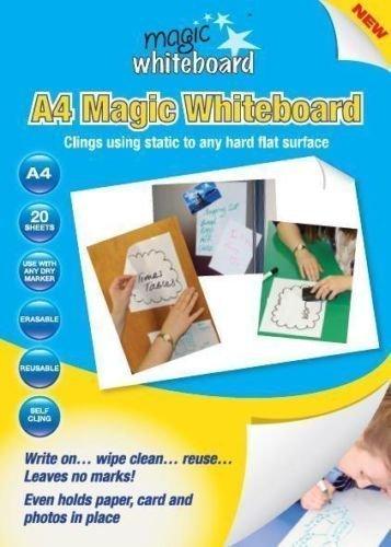 Magic Whiteboard Whiteboard-Folien, DIN A4, Weiß