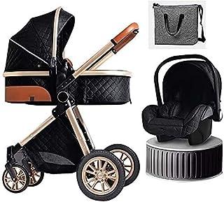 YQLWX Babyvagn Barnvagn 3 i 1 Fällbar Barnvagn Resesystem med bilstol Easy Fold Barnvagn Footmuff Blanket Kylkudde Regnkåp...