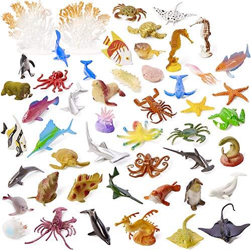 50 Stück Meerestiere Figuren für Kinder