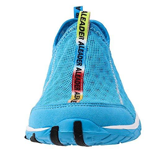 ALEADER Women's Mesh Slip On Water Shoes Blue 9 D(M) US