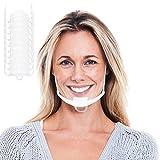 10 unidades de visera facial de estilo elevado | visera protectora en transparente | protección facial universal | visera para protección contra líquidos | Face Shield para nariz y boca