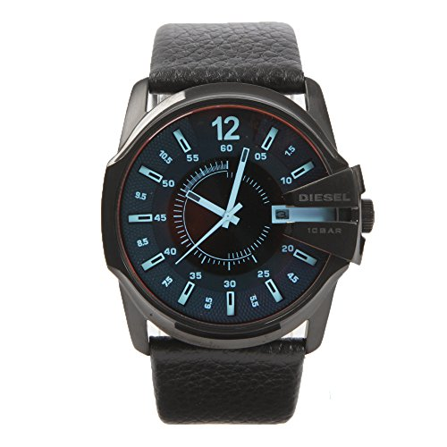 Diesel Herren Analog Quarz Uhr mit Leder Armband DZ1657