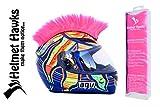 Helmet Hawks Motorcycle Helmet Mohawk w/Sticky Hook and Loop Fastener Adhesive - Fluorescent Hot Pink