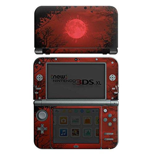 DeinDesign Skin kompatibel mit Nintendo New 3DS XL Folie Sticker Vollmond Landschaft Rot