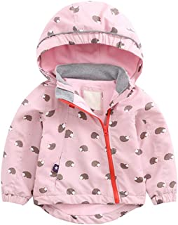 Zhhlinyuan Winter Children Jackets Fleece Lined Boys Girls - Wram Padded Windproof Coats Kids Outdoor