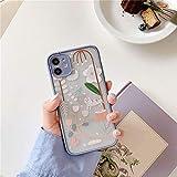 AAA&LIU Coque de téléphone avec Feuilles de Fleurs pour iPhone 11 Pro Max 7 8 Plus X XR XS Max...