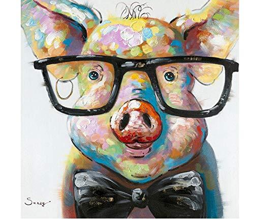 MDGCYDR Kits De Pintura De Diamante 5D DIY, Pintura De Diamante De Taladro Completo Redondo con Graffiti De Animales Perro Vaca Calle para Decoración De Pared del Hogar