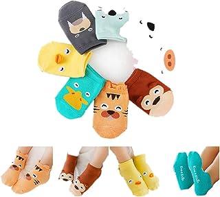 Culater/® Pattini di Bambino Bambini Infantili Calzini del Fumetto Regalo del Bambino Bambini Calzini Pavimenti Interni in Pelle Suola Antiscivolo Asciugamano di Spessore Calzini