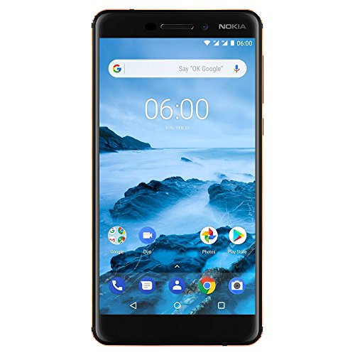 Nokia 6.1 - Android 9.0 PIE - 32GB microSD - Single Sim Unlocked Smartphone (AT&T/T-Mobile/Metropcs/Cricket/Mint) - 5.Screen - Black (TA-1016)