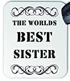 The Worlds Best Sister Tapis de souris en tissu
