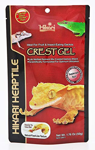 HIKARI Herptile Crest Gel Reptile Food Complete Diet for Insect & Fruit Eating Lizards, Live Feed Replacement for Crested & Giant Geckos,