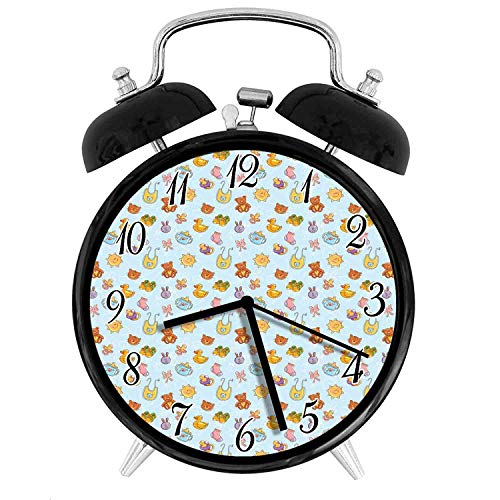 22yiihannz Baby 3.8-inch Silent Night Light Alarm Clock,Newborn Sun Teddy Bear Ribbon Feeder Pacifier Chick Kitty Cat,The Best Gift Choice for a Friend or Family