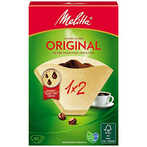 Melitta Two Cup Coffee Filter Papers, 40 x papers