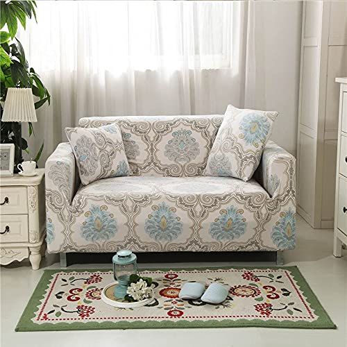 PPOS Funda de sofá elástica Funda de sofá Universal Suave Funda de sofá para decoración de Sala de Estar Funda de sofá Caliente Estilo Decoración para el hogar A5 3 Asientos 190-230cm-1pc