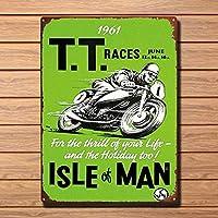 マン島Ttレースメタルティンサイン