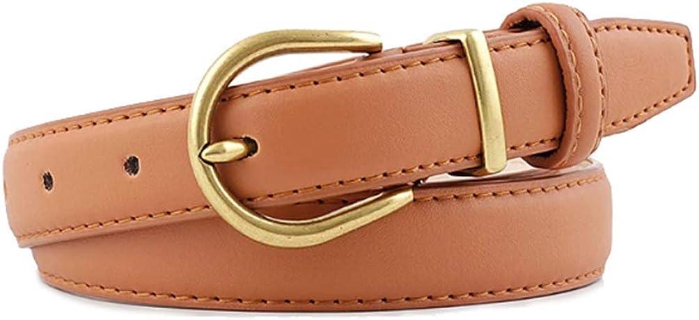 Women Imitation Soldering Leather Design Retro Lowest price challenge Waistband Gold Buckle Pin b