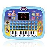 Topuality Juguete educativo temprano, tableta de aprendizaje, juguete de computadora para niños pequeños con pantalla LED, 8 modos de aprendizaje, regalo para niños de 3 a 6 años