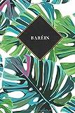 Baréin: Cuaderno de diario de viaje gobernado o diario de viaje: bolsillo de viaje forrado para hombres y mujeres con líneas