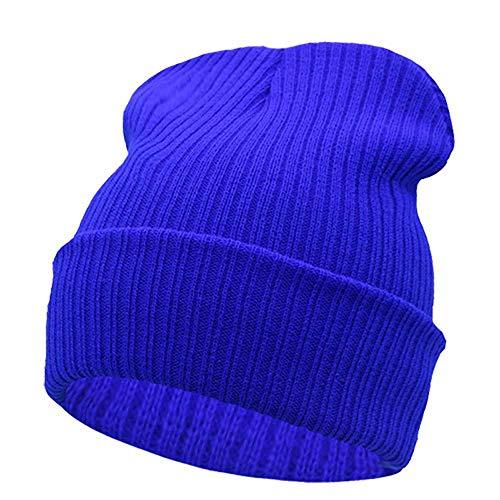 MCSZG Sombrero de Invierno para Hombres Sombrero de Punto Mujeres Sombreros de Invierno para Mujeres Hombres Gorras de Punto En Blanco Casual Lana Cálida Gorro Plano