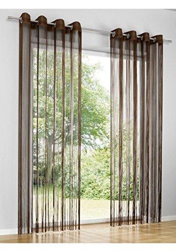 heine home Fadenstore Vorhang Raumteiler Insektenschutz Ösen braun ca. 160x95 cm