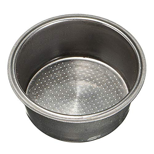 Coffee Filter Basket Silver Stainless Steel Machine 2 Cup 51mm Non Pressurized