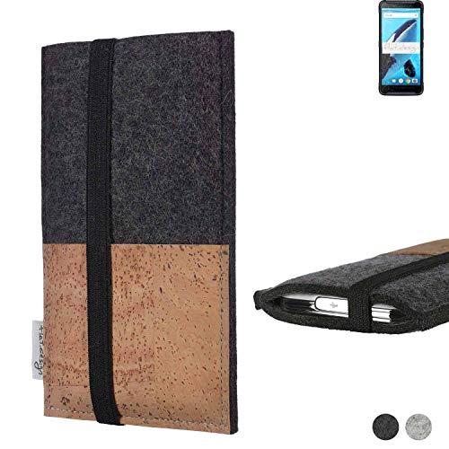flat.design Handy Hülle Sintra für Energizer Hardcase H570S Handytasche Filz Tasche Schutz Kartenfach Hülle Natur Kork