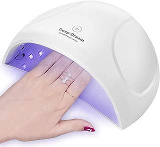 DeepDream 24W LED Nail Lamp UV Light Gel Nail Polish Dryer Toenail Fingernail Nail Art Curing Lamp Auto Sensor 90s