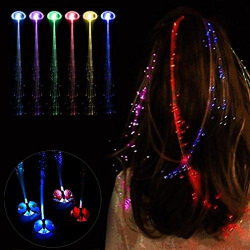 sunnymi Mode LED Pelucas Glowing Flash Light Hair Braid Clip Pelo Aguja  ️ Navidad, Cumpleaños Juguete  ️
