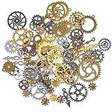 100 Grams *Steampunk Engranatges de Rellotge *Cogs Metall Penjant per a *DIY,Manualitats,Decoracions,Bijuteria Manualitats,Productes Fets a mà,*Mixed *Colours