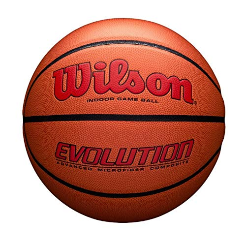 Wilson Evolution Game Basketball, Scarlet, Official Size -29.5'