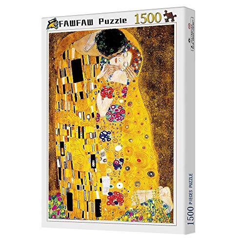 Puzles Adulto 1500 Piezas, Gustav Klimt El Beso 1500/1000/500/300 Piezas