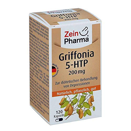 ZeinPharma Griffonia 5-HTP 200mg • 120 Capsules (4-Months-Supply) • Natural Serotonin Booster • Made in Germany